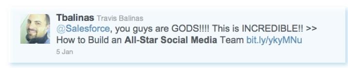 Salesforce tweet about inbound marketing